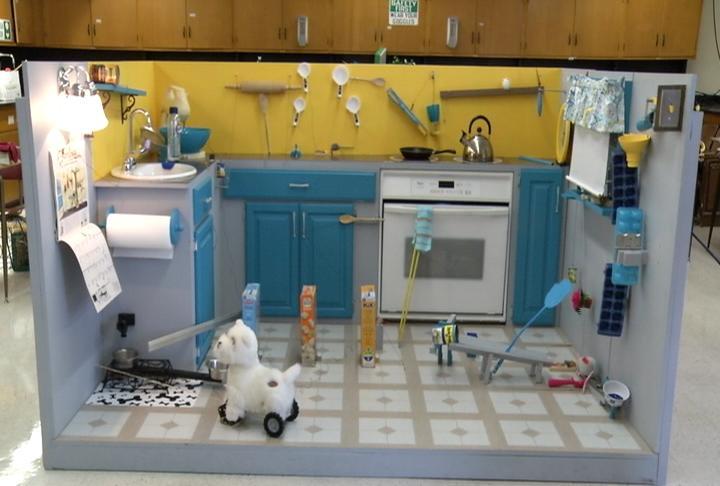 The scene for Kitchen Krew's Rube Goldberg Competition machine...a kitchen!