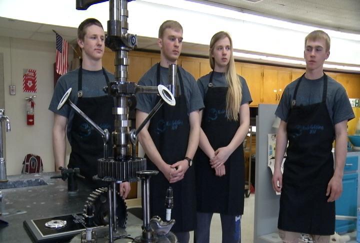 Team Kitchen Krew (from left): Nathan Meeker, Nolan Salerno, Mikaela Kohlmeyer, and Bennett Gathje.