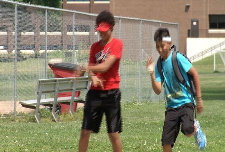 John Adams Middle School students show us their dance moves on Thursday.