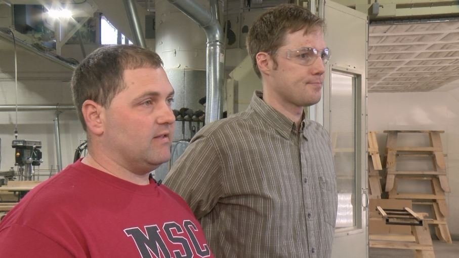 Jonathan Powell (left) and Travis Thul (right) are the architects behind the new construction technology program