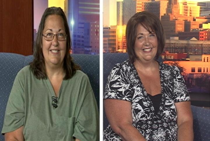 "Deborah Piens, the winner of the July "" FOX in the Morning Makeover,"" before and after."