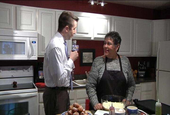 Nicholas Quallich visits the home of Jacque Sourkes to learn about traditional Hanukkah foods.